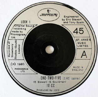 "10cc ‎- One-Two-Five (7"") (VG+/NM)"